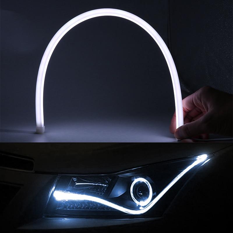 60 см гибкие светодиодные дневные ходовые свет ДРЛ лампы для Рено Дастер Меган 2 Логан 3 Захва Мазда 3 6 СХ-5 СХ-7 сиденья Леон Ибица