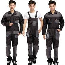 Большие размеры, мужские рабочие комбинезоны, Мужская Рабочая одежда, униформа, модные Рабочие комбинезоны, рабочие ремонтники, Комбинезоны на бретелях 071702
