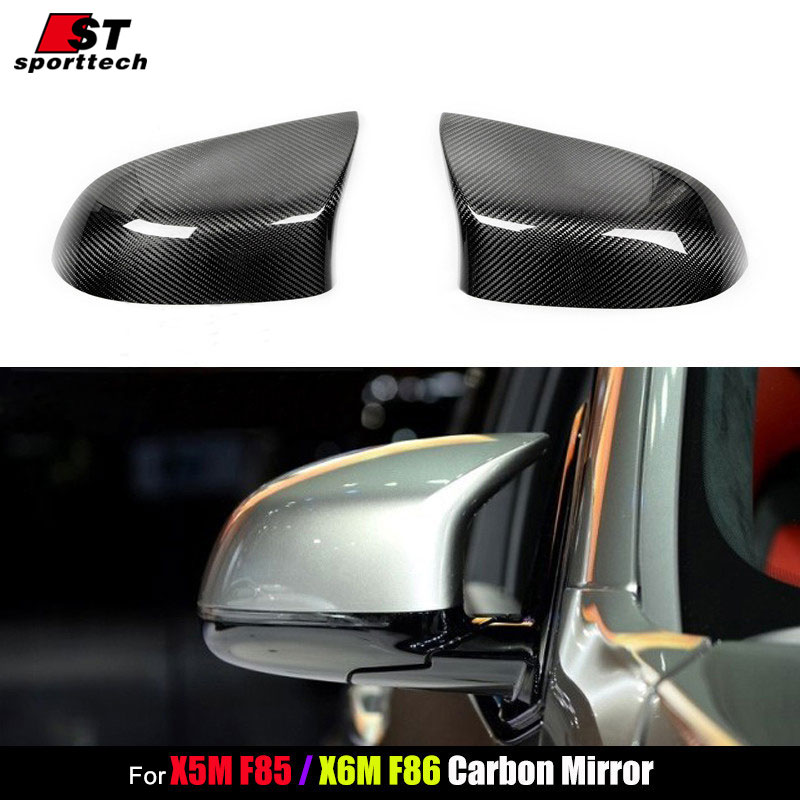 Car Styling Rearview Mirror Sticker For BMW F85 X5M F86 X6M Carbon Fiber Cover For BMW F85 X5M F86 X6M Auto Tuning Accessories replacement car styling carbon fiber abs rear side door mirror cover for bmw 5 series f10 gt f07 lci 2014 523i 528i 535i