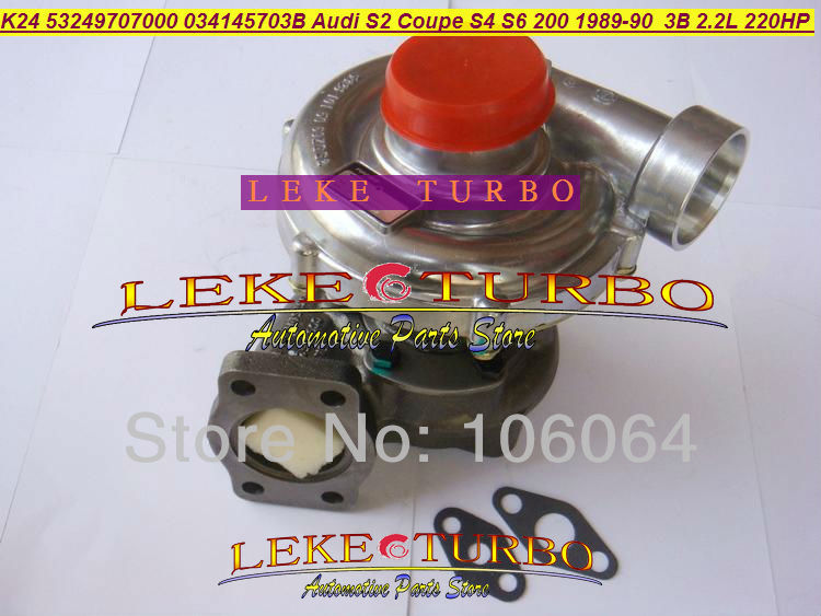 K24 53249707000 53249887000 034145703B 034145702X034145702 V <font><b>Turbo</b></font> Für <font><b>Audi</b></font> 80 <font><b>S2</b></font> S4 S6 Coupe 200 quattro 1989- 3B AAN ABY 2.2L image