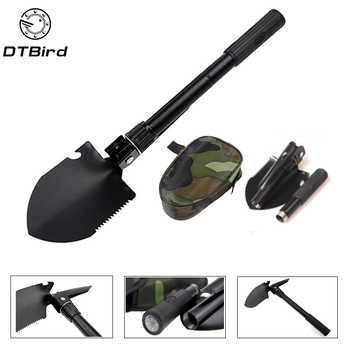 Garden Tools Military Portable Folding Shovel Multifunction Stainless Steel Survival Spade Trowel  Camping Outdoor Cleaning Tool - DISCOUNT ITEM  34% OFF All Category
