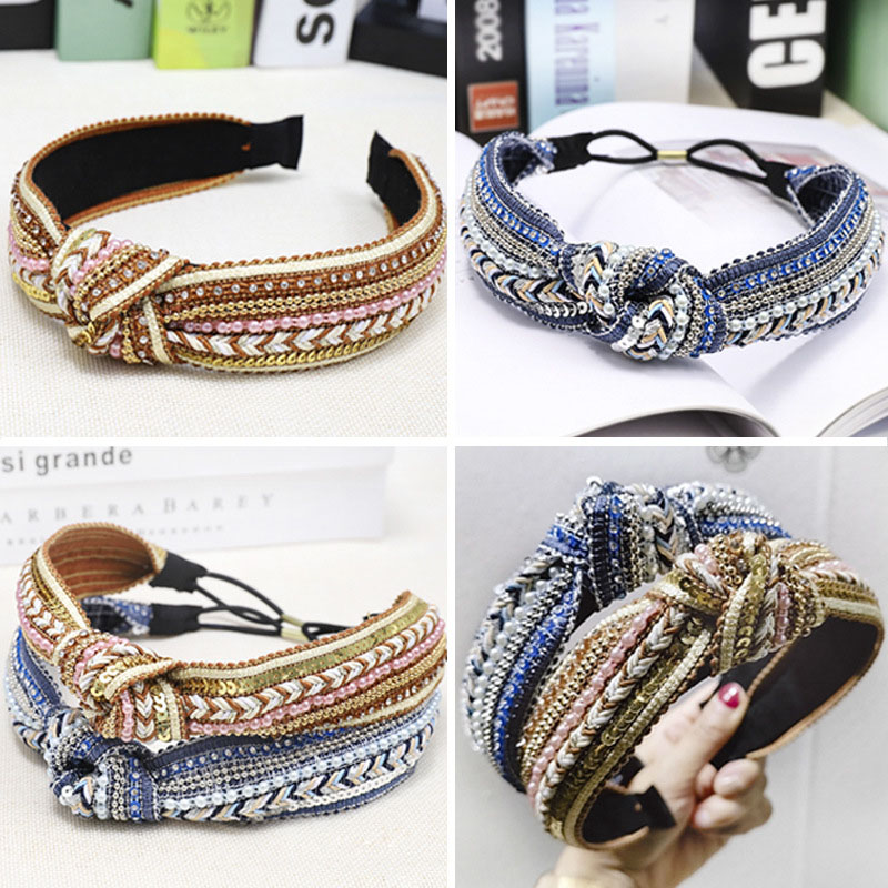 Bohemian Ethnic Weaving Knot Headband Hairband Hair Accessories Hair Jewelry