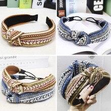 Bohemian Ethnic Weaving Knot Headband Hairband Hair Accessories Hair Je