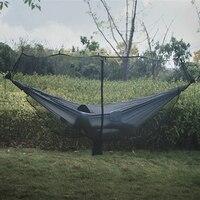 Rede destacável mosquito rede portátil sobrevivência ao ar livre náilon criptografia malha 1 2 pessoa acampamento peso leve cibinlik hamak double camping hammock camping hammock hammock mosquito net -