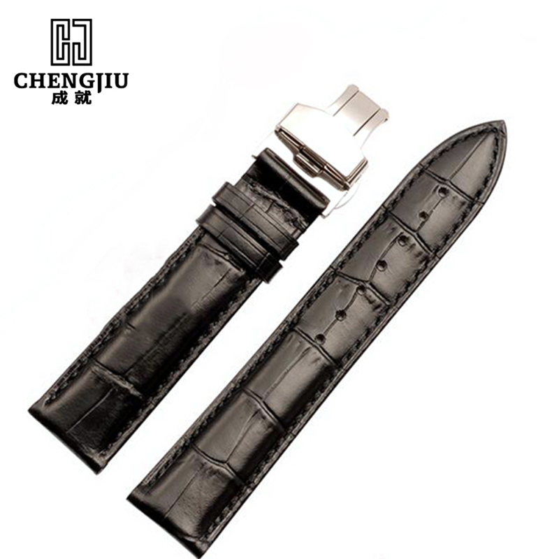Clafskin Leather Mens Watch Wrist Band For Tissot/Longines/IWC/Cartier Watch Genuine Leather Women Bracelets Watchband Belt genuine leather watchband for longines men leather watch strap for women metal buckle watch band belt retro watch clock band
