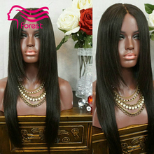 Top quality Brazilian 130 density full lace wig Thick and Soft Virgin Hair straight hair thick density lace front wig