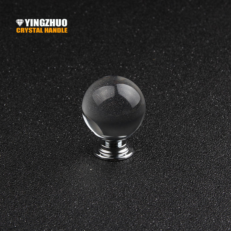 Door Handles Home Shoe Cabinet Wardrobe Cupboard Closet Transparent Ball Crystal Glass Alloy Round Drawer Pulls Knobs Furniture hidden door handles wardrobe cabinet drawer knobs and handle solid furniture closet doorknob bathroom pulls gold and silver