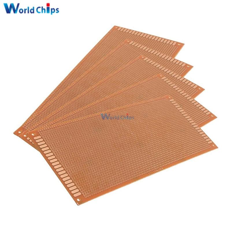 US $0 31 12% OFF 10x22cm DIY Bakelite Plate Paper Prototype PCB Breadboard  Universal Experiment Matrix Board Single Sided Sheet Copper 10*22CM-in