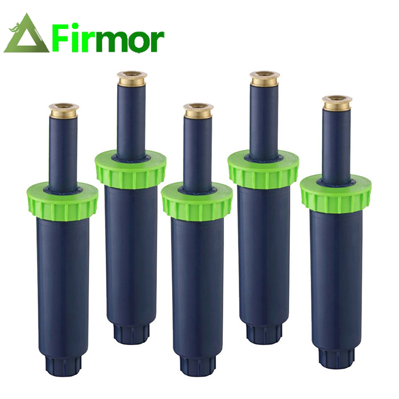 FIRMOR 4inch Pop-up Sprinklers With Brass Nozzle High Pressure 360 Degrees Rotating Watering Irrigation Sprinkle For Lawn Garden