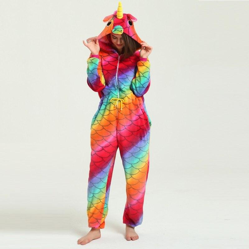 Mignon À Capuche Kigurumi Adulte Nuit Pour Femmes Unicornio Licorne Femmes D'hiver Mignon de Bande Dessinée Animaux Pegasus Licorne Pyjamas