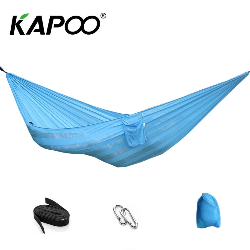 Portable Outdoor Leisure Mesh Hammock Outdoor Furniture Advanced Summer Cool Hammock Soft Outdoor Swing Chair Leisure Bed breathable ice mesh individual lifts chair outdoor swing mesh hammock strong and safety portable casual lightweight lifts chair