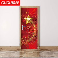 Decorate Home Christmas star wall door sticker decoration Decals mural painting Removable Decor Wallpaper LF 763