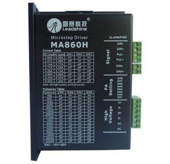 LeadShine MA860H Microstep Driver 2/4 Phase Stepper Driver VAC18V-80V NEMA size 23 to 42