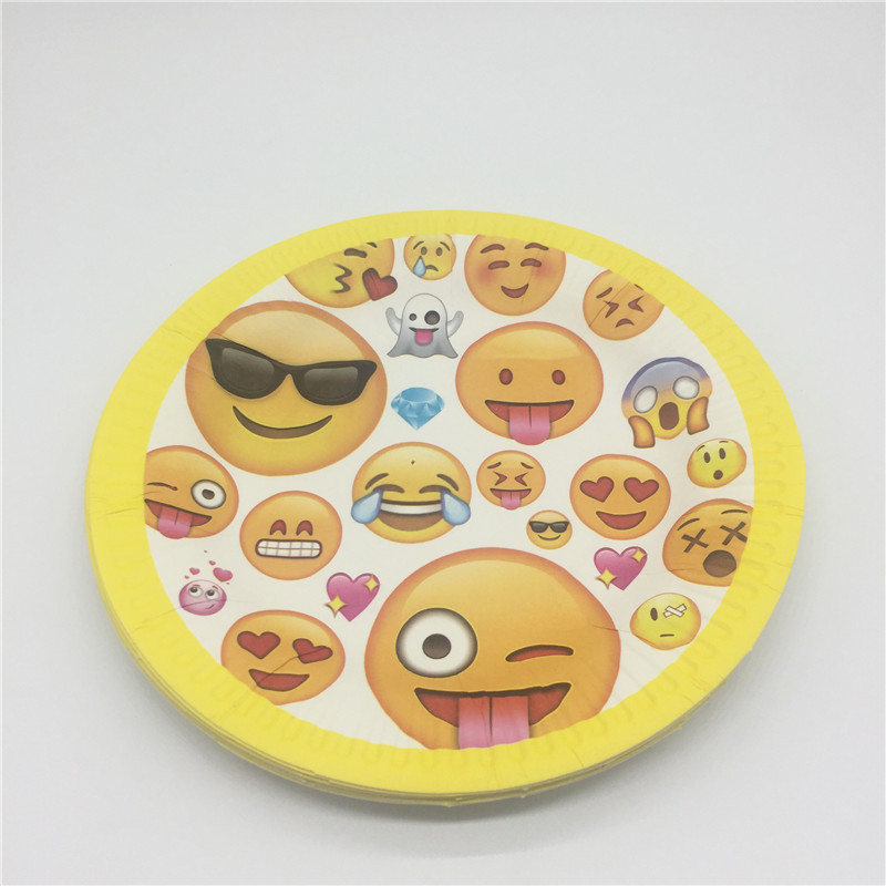 30pcs Lot Theme Emoji 10pcs Paper Cup Board Straw Smiley Face Birthday Party Decoration Set In Disposable Tableware From Home