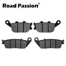 купить Road Passion Motorbike Front & Rear Brake Pads For HONDA VT 1100 C2 1995-1999 2000-2007 VT1100 C3 1998-2002 D2 1997 T 1998-2001 по цене 481.32 рублей