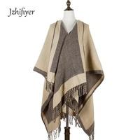 poncho feminino inverno cappa tippet women poncho plain 100%Acrylic scarf ponchos capes opened shawls wrapt tassel 460grams