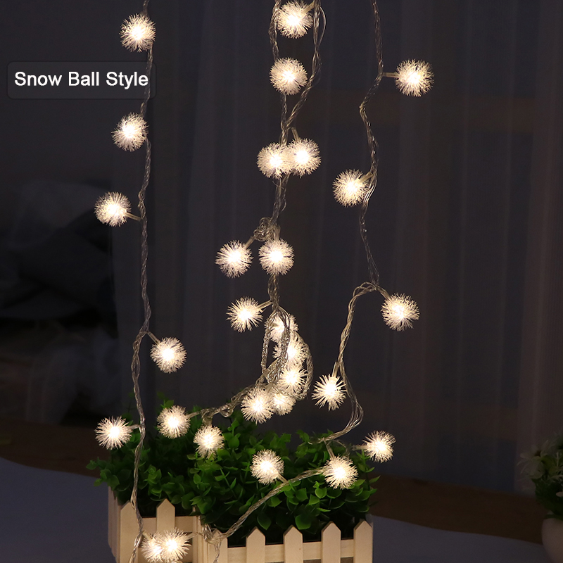 led ball string lights for bedroom gerlyanda xas garland christmas lights decoration star light string bulb fairy light chain in led string from lights