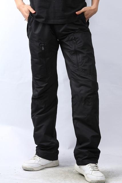 2016 Новые Люди случайные быстросохнущие брюки Длинные брюки ветрозащитный водонепроницаемый лето осень сезон носить Размер M & L Продвижение бренда Черный