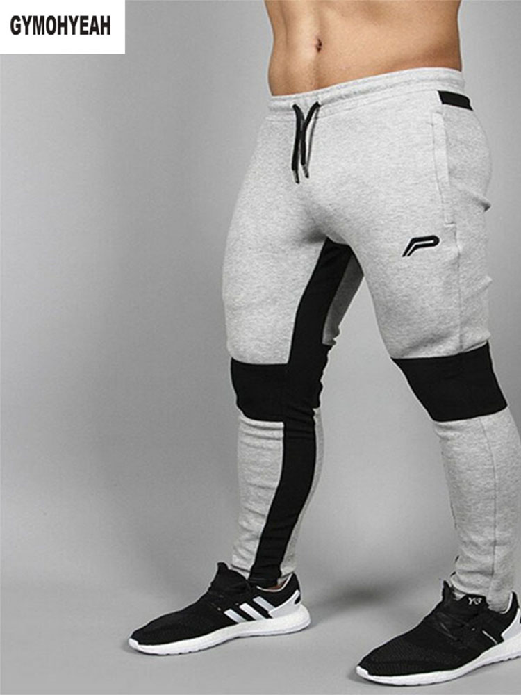 c3c98268a1 Achat Mode Marque Bodybuilding Hommes Pantalon Vêtements Splice Coton  Pantalon Professionnel Fitness Jogger pantalons de Survêtement Hommes M 2XL  Pas Cher ...