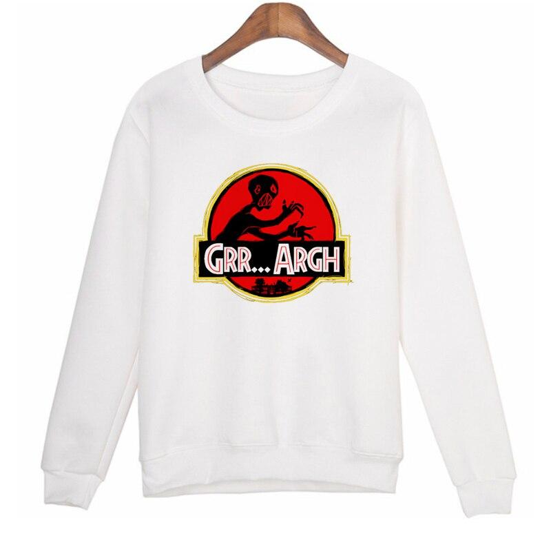GRR...ARGH Skull Sweatshirt Women Winter Long Sleeve Sweatshirt Hoodies Women Casual Print Tracksuit Hoodie Plus Size W-R11010