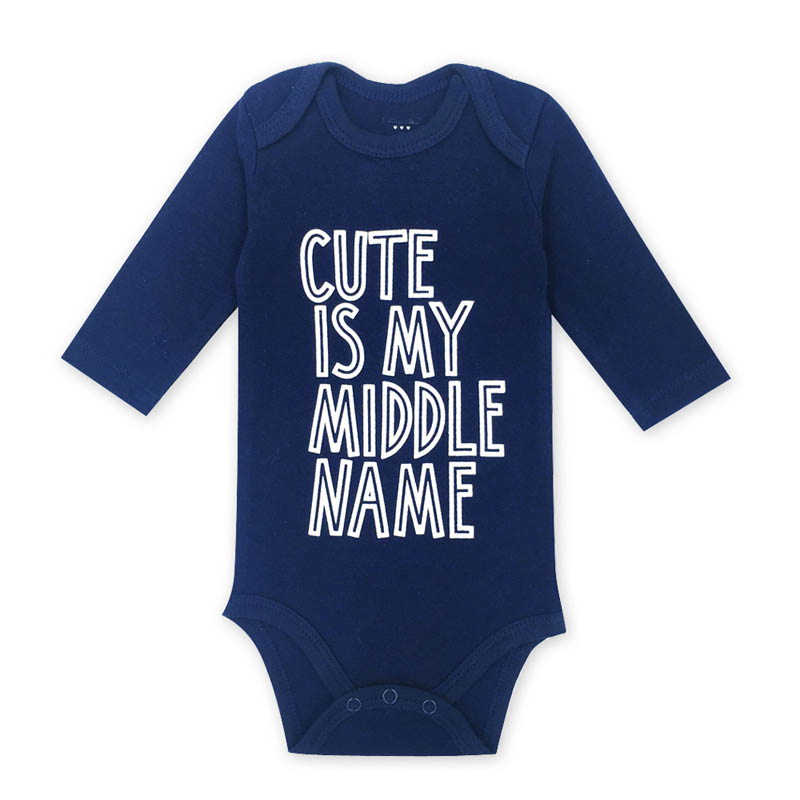 2018 Free Shipping Baby Bodysuits Boy Girl Cotton Clothes Newborn Infant Toddler Long Sleeve Spring Summer Child Baby Bodysuit