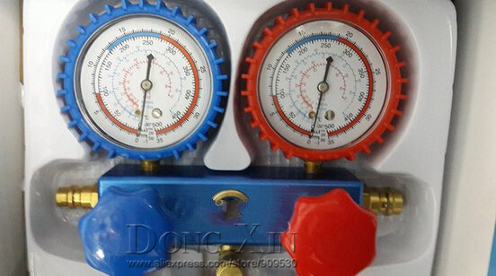 ФОТО GIANT TREE Air Conditioning Aluminum Manifold Gauge Set GT-S248 For R22 R12 R134 R404
