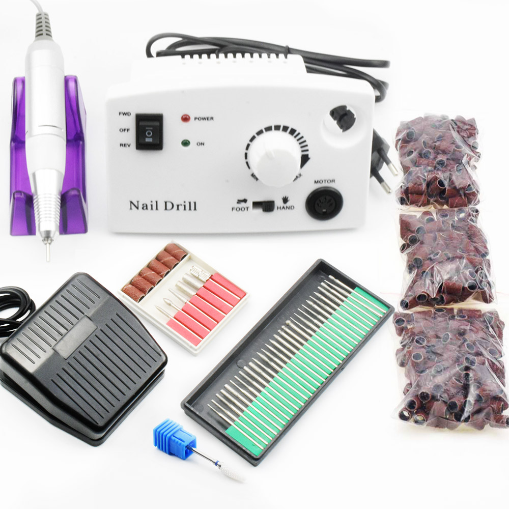 35000 RPM Electric Nail Drill Manicure Machine Pedicure Kits Apparatus For Manicure Nail Accessoires Tools Nail File Drill Bits