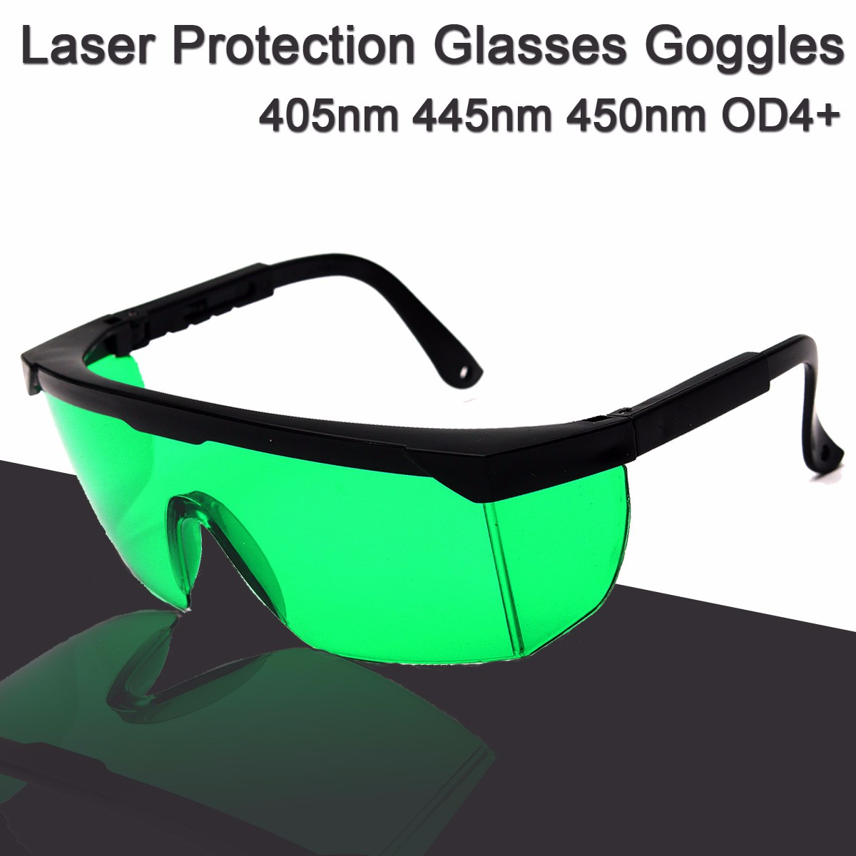 все цены на 405nm 445nm 450nm Blue 808NM 980NM IR Laser Protection Glasses Goggles OD4+ онлайн