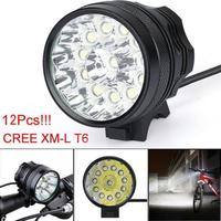 High Quality Super Bright 30000 Lm 12 CREE T6 LED 3 Modes Bicycle Lamp Bike Light