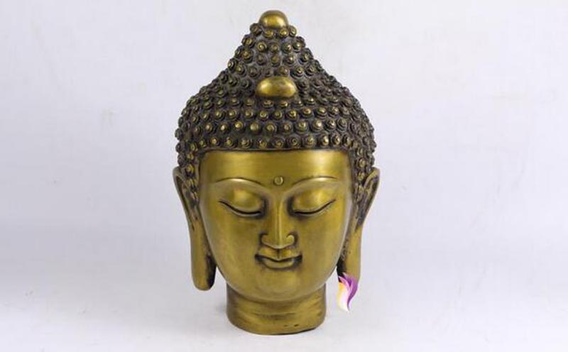 8 Chinese Buddhism Bronze Gilt Shakyamuni Sakyamuni Amitabha Buddha Head Statue  Buddhism People Decoration Crafts  8 Chinese Buddhism Bronze Gilt Shakyamuni Sakyamuni Amitabha Buddha Head Statue  Buddhism People Decoration Crafts