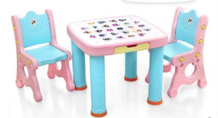 Enjoyable Us 72 25 15 Off Baby Child Desk Chairs And Tables Suits Plastic Learning Table A Chair In Children Furniture Sets From Furniture On Aliexpress Com Theyellowbook Wood Chair Design Ideas Theyellowbookinfo