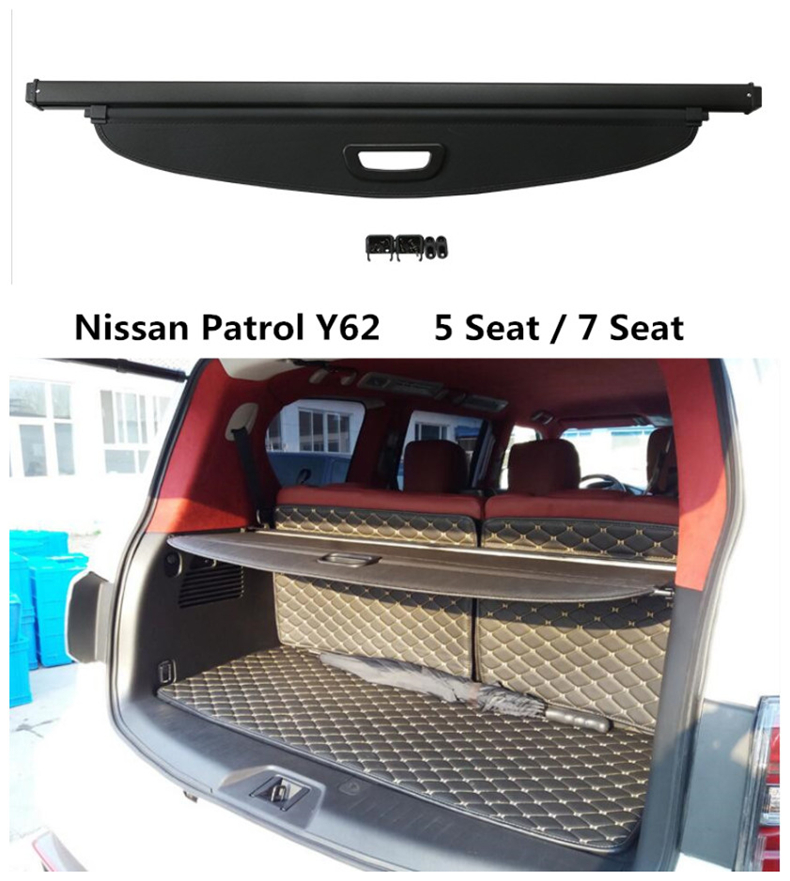 For Nissan Patrol Y62 2012 2013 2014 2015 2016 2017 2018 Rear Trunk Security Shield Cargo Cover High Qualit Auto Accessories велосипед eltreco patrol кардан 28 камуфляж 2015