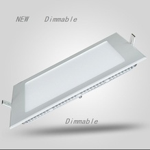 цена на Dimmable LED Ceiling Panel Light 4W/6W/9W/12W/15W/25W Recessed LED Downlight with driver