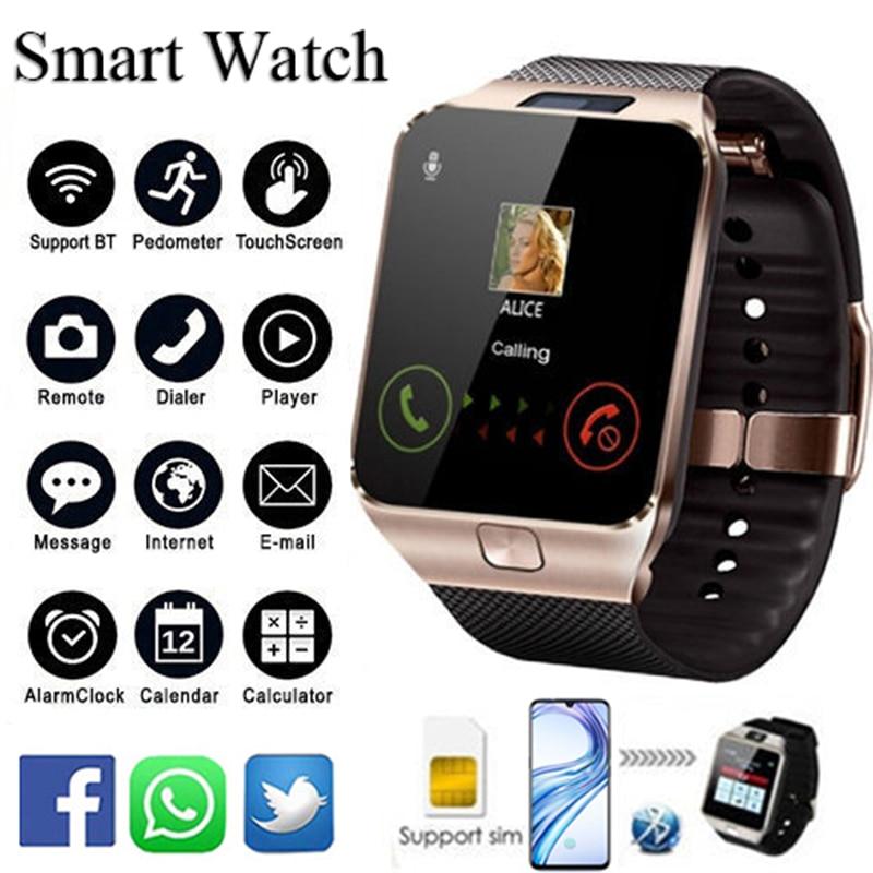 reloj inteligente mujer 2018 font b Smart b font Watch Men digital DZ09 With Sim Card