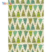 Yeele Photography Backdrops Cartoon Christmas Trees Pattern Professional Camera Photographic Backgrounds For The Photo Studio