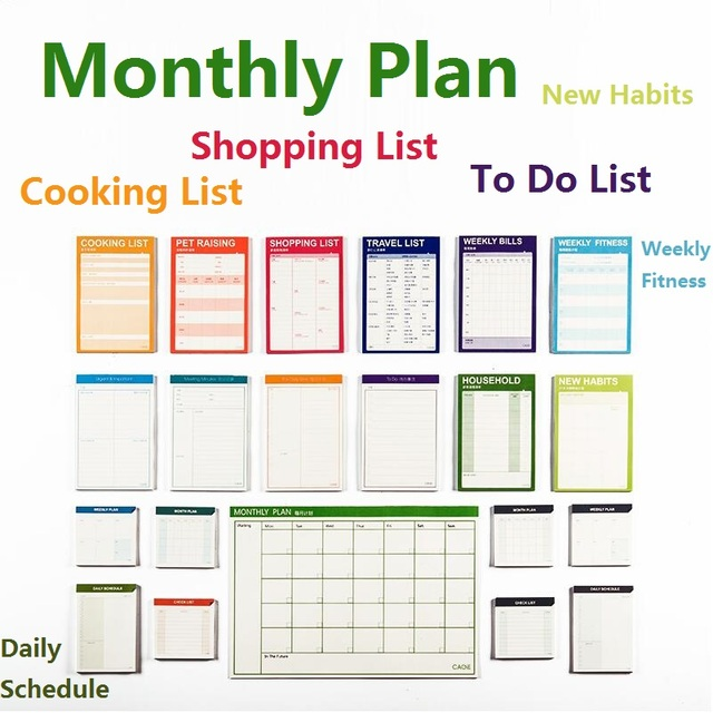 Buy monthly plan big 15 sheets weekly for Planner casa online gratis