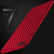 Супер тонкий для iPhone 7 Plus чехол углеродного волокна искусственная кожа зерна жесткого пластика Телефон чехлы для iphone 6S плюс 7 Plus