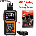 FOXWELL NT630 Engine ABS&Airbag SRS Reset Tool OBD2 Scanner Live Data Code Reader+Foxwell BT100 12V Car Battery Tester Analyzer