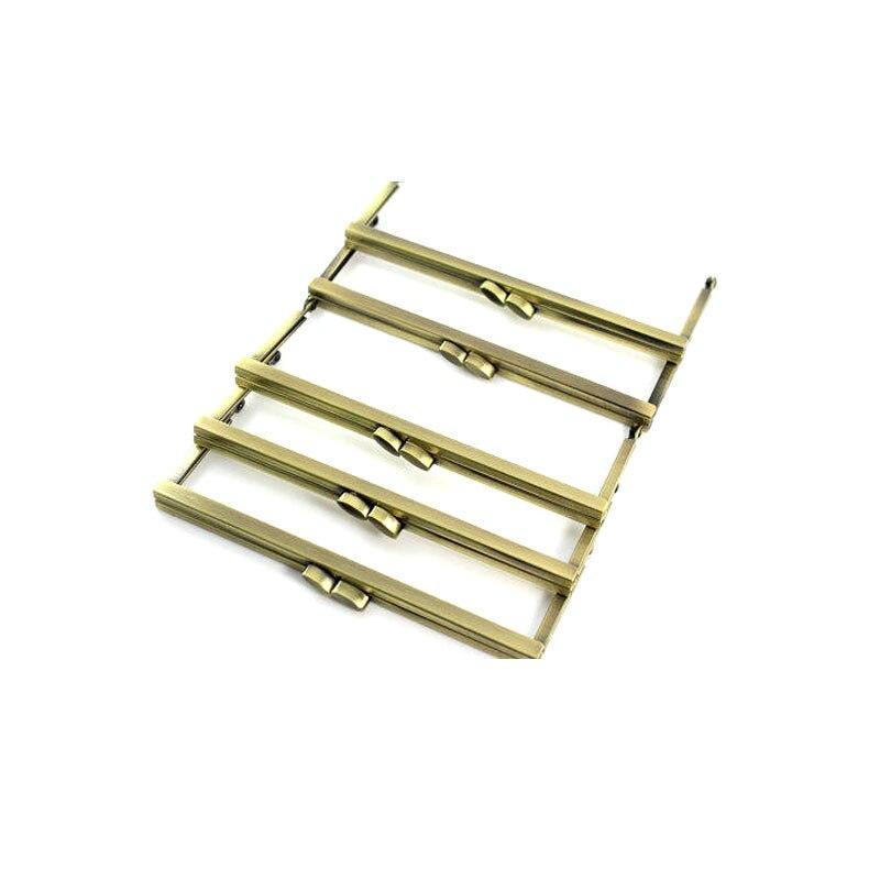 8x3 inches (20 cm) Large Antique Brass Clutch Purse Frame 12 pcs/lot