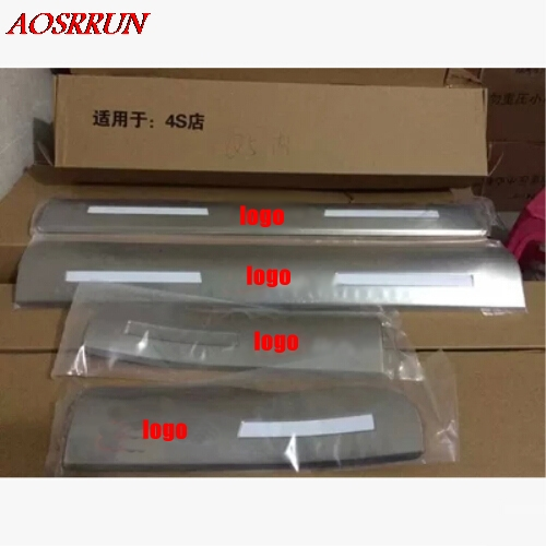 High quality Built pedal Cover threshold Stainless Steel Door sill scuff plate for Audi Q5 2009-2014 car accessories car-styling brand new car styling accessories stainless steel inside door sill scuff plate for mazda 6 atenza 2014