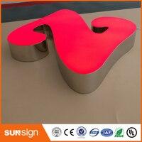 Оптовая продажа эпоксидная смола светодиодной подсветкой букв обувь по заводским ценам открытый металлические буквы огни