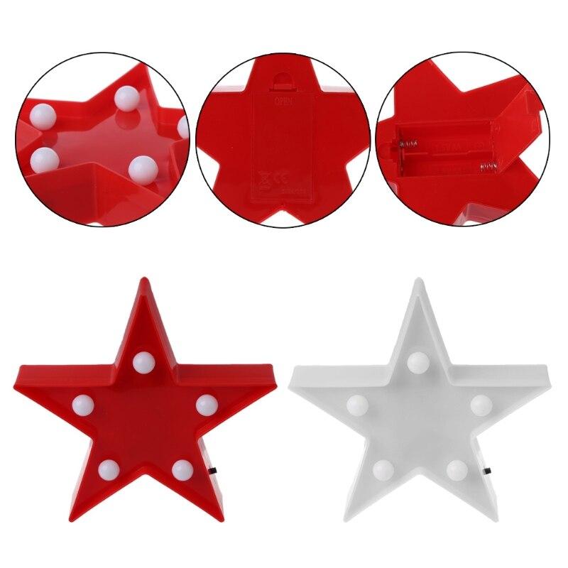 Luzes da Noite 3d marquee estrelas mesa lâmpada Fonte de Luz : Lâmpadas Led