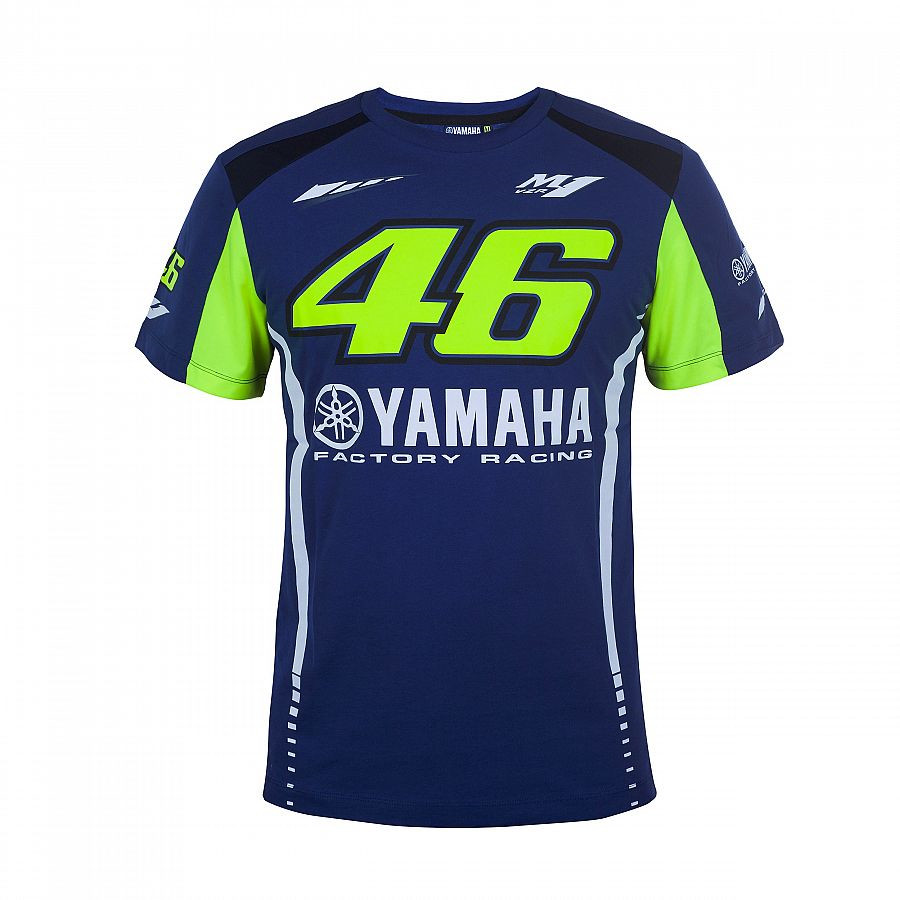 2018 VR46 T SHIRT MOTOGP T-shirts for Valentino Rossi VR46 yamaha Racing Men's T-Shirt jersey Blue