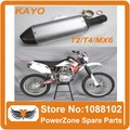KAYO T2 T4 MX6 Exhaust Muffler Back-end End pipe 4wd Refires Aaccessories fit Dirt Pit Bike Motorcycle,Motorcross free shipping