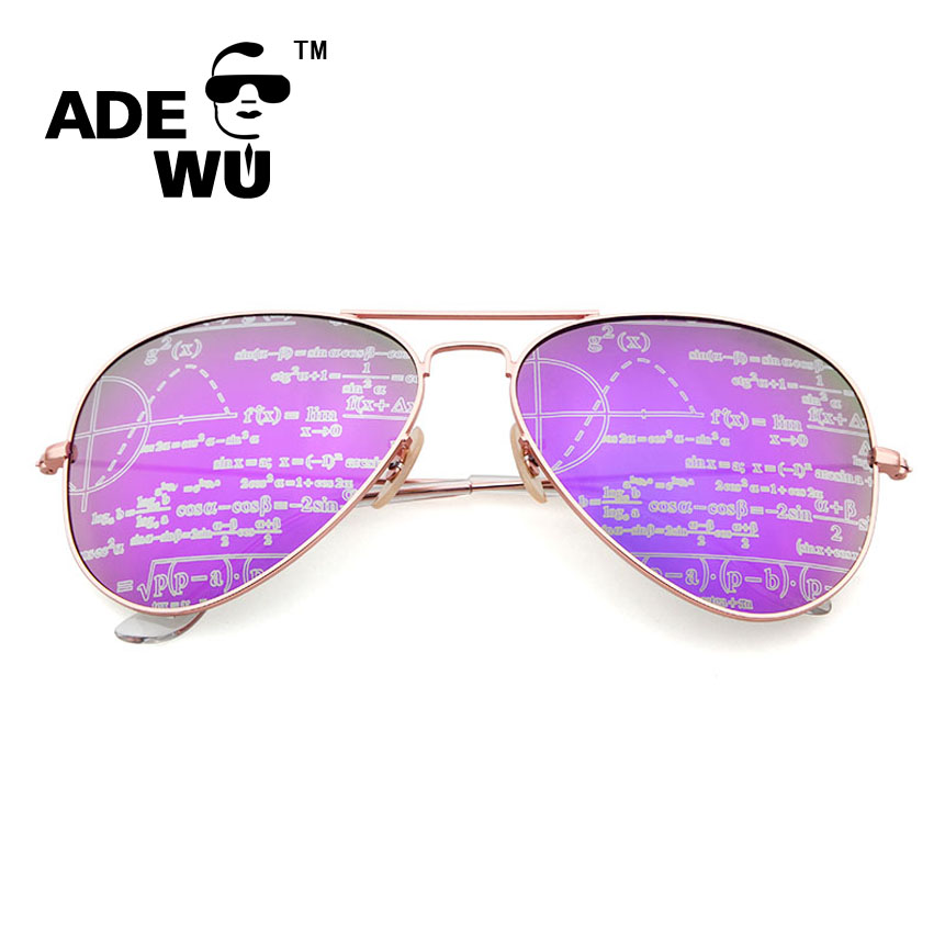 779afd3d31f Adewu Brand Flower Glasses Frame Women Sunglasses Aviator Printing UV 400  Mirror Female Sun Glasses Ladies Shades High Quality-in Sunglasses from  Women s ...
