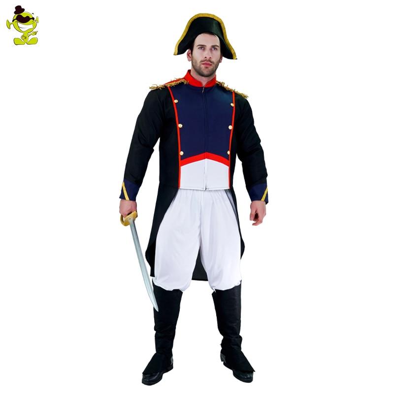 Brave Napoleon Costume Adults Man Halloween Party Worrier -6353