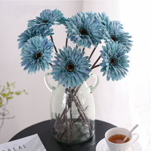 Xuanxiaotong 18pc Large Gerbera Flowers Artificial for Wedding Table Centerpiece Decor Fall Party Flower Arrangement Decoration