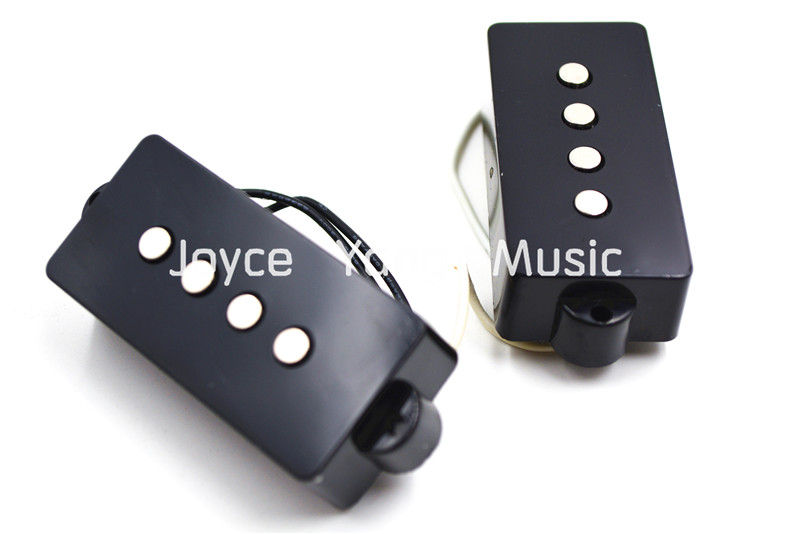 1 Set of 2pcs Black/White PB 4 String Electric Bass Pickups For FD Precision Bass Pickups  2 pcs black white 100