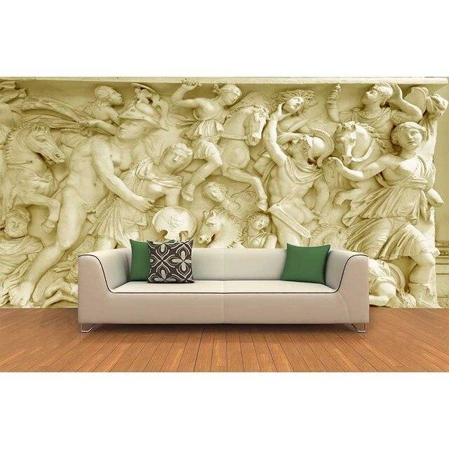 2016 Custom photo wallpaper 3D European Roman statues art wallpaper ...