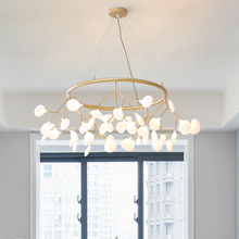2019 TRAZOS Golden Iron Art Chandelier Lighting lustre suspension Coffee Bedroom Iron+Grass Lamp for loft decor